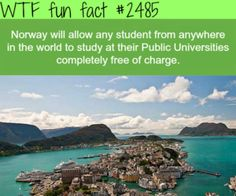 Countries with free education - WTF fun facts I Want To Travel, Beautiful Places To Travel, The Places Youll Go, Cool Places To Visit, Vancouver, Tokyo, Wtf Fun Facts, Random Facts, Random Stuff