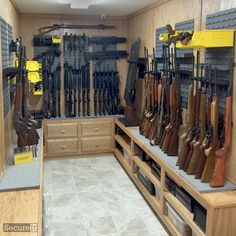 Sent in this morning - a killer customer setup using SecureIt's CradleGrid firearm storage system!