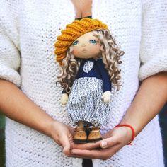 Моя новая крошка❤ #кукла#текстильнаякукла #интерьерная…