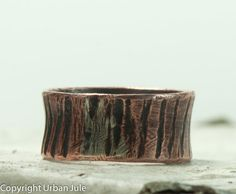 Men Wedding Band Mans Ring Copper Promise Ring for by UrbanJule, $60.00 Handmade men's ring, handmade men's jewelry