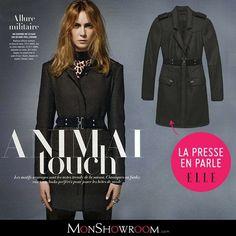 Manteau Femme Monshowroom, craquez sur le Manteau 3/4 en laine Bérénice Vert Ikks women prix Monshowroom 375.00 € TTC