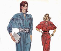 80s Bat Wing Dress Sewing Pattern  Vogue by allthepreciousthings, $8.00