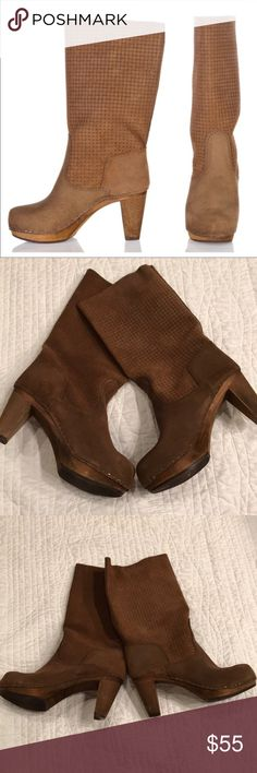 Sanita Lola-Mae Boots Sanita Lola-Mae Clogs Boots, size 38, brown Sanita Shoes Heeled Boots