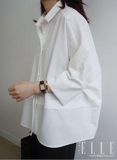 Contemporary Fashion - oversized white shirt