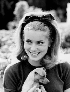 Catherine Deneuve. I want my head band hair to look like this. 1960's