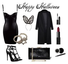"""Happy Halloween"" by tpixie on Polyvore featuring Non, Giuseppe Zanotti, Salvatore Ferragamo, Cara, NARS Cosmetics and Mary Kay"