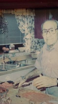 Check this one out of the big tuna doing some cooking , this is a private photo of Chicago mob boss tony accardo