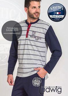 La nuova collezione Uomo Primavera/estate 2015 Scuola Nautica! #pigiamiuomo #pigiami #moda http://www.ludwigintimouomo.it/32-pigiami-uomo