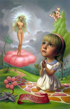 Saint Barbie by pop surrealism artist Mark Ryden Mark Ryden, Arte Lowbrow, Art And Illustration, Portrait Illustration, Art Illustrations, Fashion Illustrations, Arte Pop, Pop Art, Arte Peculiar