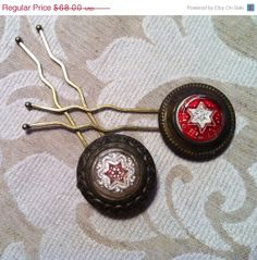 LostInLove SALE Decorative Bridle Rosette Button by WillowBloom, $61.20