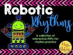 50% off- Robotic Rhythms {A Bundled Set of Rhythm Games