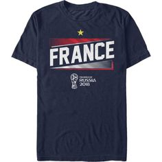 Fifth Sun Men's Fifa 2018 World Cup Russia France Slanted Navy T-Shirt, Size: Medium, Team