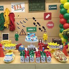 Festa com tema DPA ! Police Party, Pj Mask, Julia, Alice, Frozen, Decoration, Inspiration, Party Things, Birthday Party Boys