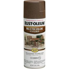 Pack) Aged Iron Rust-Oleum Stops Rust MultiColor Textured Spray Paint for sale online Textured Spray Paint, Rust Prevention, Concrete Bricks, Texturizing Spray, Paint Drying, Metal Projects, Paint Finishes, Spray Painting, Gardens