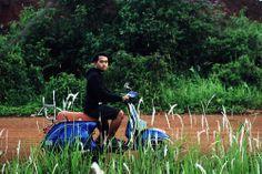 first bike and firts vespa. love you blues...