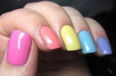 Pastel Rainbow! #spring #nails #colorful
