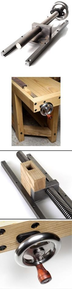 A More Virtuous ViseTypical wagon vises have the nut attached to the bench… #WoodworkingTools