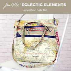 I was lucky enough to have the opportunity to design a bag pattern featuring Eclectic Elements hardware, zippers and fabric by Tim Holtz. Introducing the Expedition Travel Tote. The Expedition Totefeatures threelarge zippered pockets and an easy access slip pocket formaximum organization. Carry on a shoulder with the handlesor wear it cross-body with the removable …