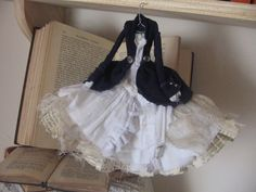 Assemblage Art Dress Made From Paper and Fabric – Cathy ( Cathy Earnshaw – Wuthering Heights)