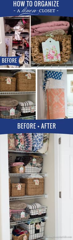How to Organize a Linen Closet Before & After