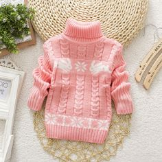Autumn Winter Sueter Infantil for Girls Baby Sweater Coats with Cartoon Rabbit Print Cute Kids Sweaters New Soft Turtleneck Coat - Kid Shop Global - Kids & Baby Shop Online - baby & kids clothing, toys for baby & kid Baby Outfits Newborn, Baby Girl Newborn, Pull Bebe, Baby Shop Online, Boys Sweaters, Winter Kids, Matching Family Outfits, Pulls, Baby Knitting