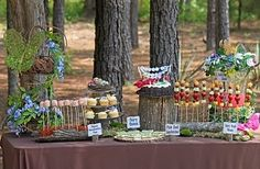woodland fairy food table by morgan