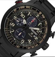 Seiko Men& Prospex Solar Chronograph Watch - In Stock, Free Next Day Delivery, Our Price: Buy Online Now Stainless Steel Bracelet, Stainless Steel Case, Seiko Solar, Slide Rule, Seiko Men, Seiko Watches, Solar Power, Chronograph, Watches For Men