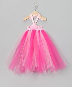 Take a look at this Pink & Fuchsia Tutu Halter Dress by Sparkle Adventure on #zulily today!
