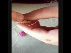 Circular brick stitch bracelet component - YouTube