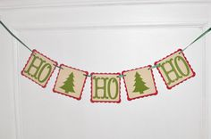 HO HO HO Christmas Banner - Paper Christmas Garland - Christmas Decoration - Holiday Decoration - Mantel Decor - Christmas Party Decoration on Etsy, $14.00