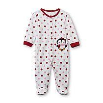 ac0d896e5b16 Little Wonders Newborn Girl's Footed Sleeper Pajamas - Penguin Little  Princess, Baby & Toddler Clothing