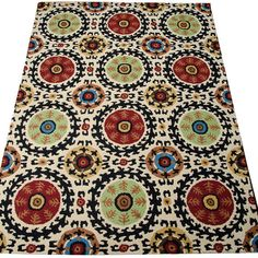 For a bohemian living room scheme bursting with colour, this hand-tufted wool rug featuring a vibrant medallion design is the perfect addition. Arrange along...