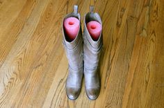Fight floppy boots (and an ever-messy closet floor) without buying tall shapers; pool noodles make a surprisingly good substitute. Get the tutorial at Inkwell Press »  - GoodHousekeeping.com
