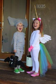 DIY no sew Halloween costumes! A hammerhead shark and a rainbow unicorn. …