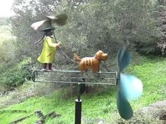 Brolly Girl Whirligig by Blue Handworks - YouTube