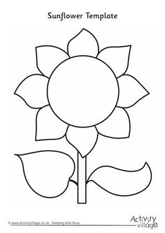 Flower Template for Friendly Flowers. Each girl writes their name and draws a picture of themselves in the middle, they pass them round and everyone writes something nice about them on the petals, stem, leaves and space around the outside, once full they pass them back to be coloured in,