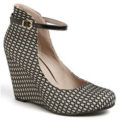 Seychelles Dynamite Fishnet Overlay Pumps - Perfect your holiday party wardrobe with hot fishnet pumps