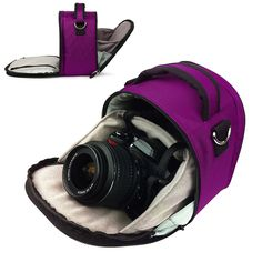 Vangoddy designed Magenta Plum Purple Small DSLR & SLR Camera Bag, Laurel Luxury Design~ Love Love Love. So handy to just grab my camera and go.