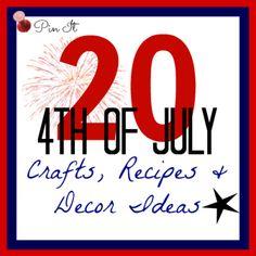 4th of July Crafts Recipes & Decor Ideas - Suchamom.com