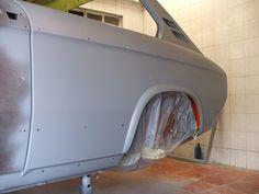 Paint base left rear panel