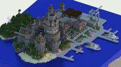 Modern medieval port in Minecraft!