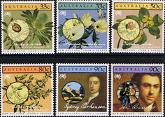 Australia 1986 Cook's Voyage to New Holland Set Fine Mint SG 1002/7 Scott 976/81 Other Australian Stamps HERE