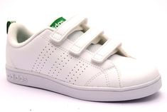 separation shoes 02aa7 75b36 ADIDAS AW4880 VS ADV BIANCO VERDE Bambina Bambino Sneakers Strappi Scarpe  Tennis