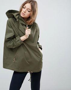 ASOS - ASOS ASOS Jacket With Hood And Ring Pull Detail - Green - AdoreWe.com