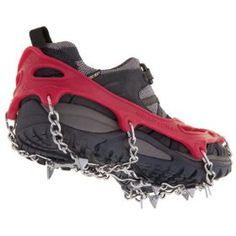 Kahtoola MICROspikes Pocket Traction System, (snow ice foot traction, running, traction, crampons, winter, ice, ice cleats, outdoor gear, snow, yaktrax), via http://myamzn.heroku.com/go/B0010RHW2G/Kahtoola-MICROspikes-Pocket-Traction-System