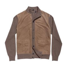 Loro Piana bomber quebec baby cashmere & suede