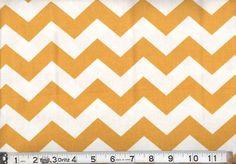 """Gold 1"""" Wide Chevron Fabric"""