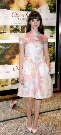 Felicity Jones doesn't care if it's not spring yet.