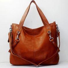 New Genuine Leather Real Leather Tote Shoulder Bag Purse Hobo Handbag B1229