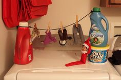 Top 50 Elf on the Shelf Ideas (FREE printables!) - I Heart Naptime Check out these top 50 elf on the shelf ideas. There are so many creative ways to hide your elf. Some of these are really funny! Have fun! A Shelf, Shelves, Shelf Elf, To Do App, Der Elf, Elf Auf Dem Regal, Elf Magic, Naughty Elf, Buddy The Elf